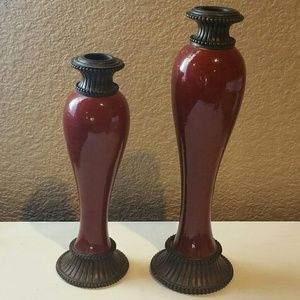 Red Candle Stick Holders